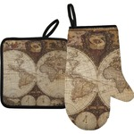 Vintage World Map Oven Mitt & Pot Holder