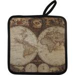 Vintage World Map Pot Holder