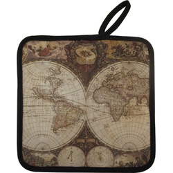 Vintage World Map Pot Holder