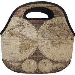 Vintage World Map Lunch Bag