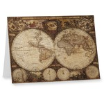 Vintage World Map Note cards