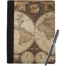 Vintage World Map Notebook Padfolio
