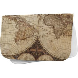 Vintage World Map Burp Cloth