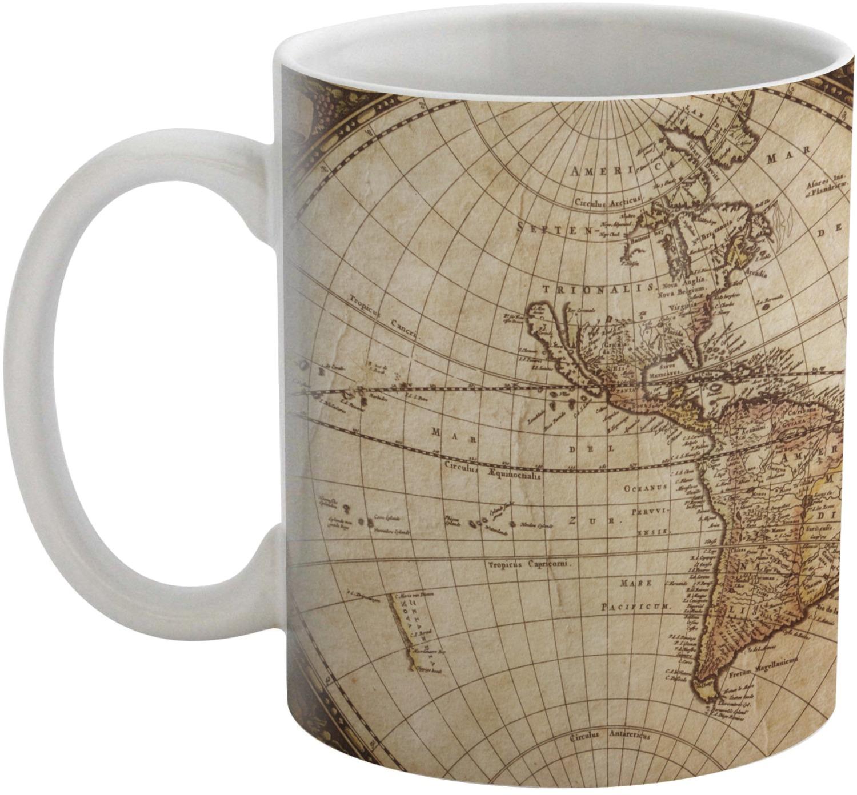 Vintage World Map Coffee Mug Youcustomizeit