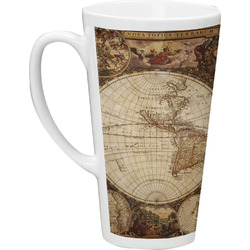 Vintage World Map 16 Oz Latte Mug