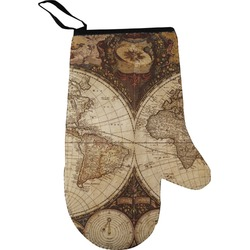 Vintage World Map Oven Mitt