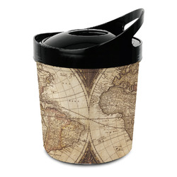 Vintage World Map Plastic Ice Bucket