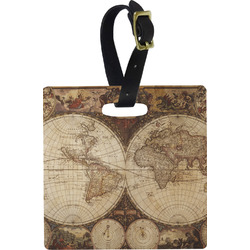 Vintage World Map Luggage Tags