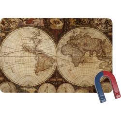 Vintage World Map Rectangular Fridge Magnet