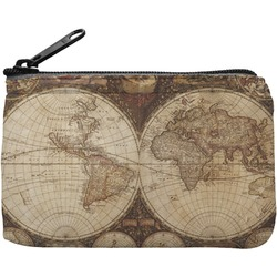Vintage World Map Rectangular Coin Purse