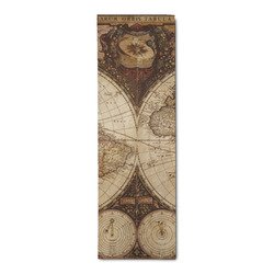 Vintage World Map Runner Rug - 3.66'x8'