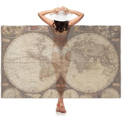 Vintage World Map Sheer Sarong