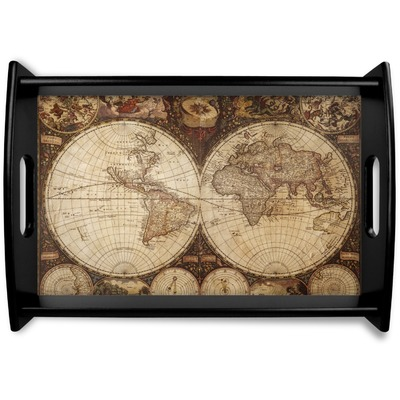 Vintage World Map Wooden Trays