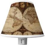 Vintage World Map Shade Night Light
