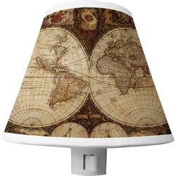 Vintage World Map Shade Night Light