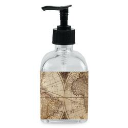 Vintage World Map Soap/Lotion Dispenser (Glass)