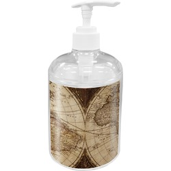Vintage World Map Soap / Lotion Dispenser