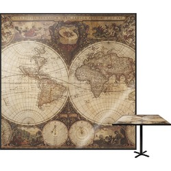 Vintage World Map Square Table Top