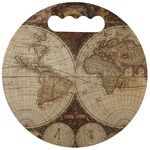 Vintage World Map Stadium Cushion (Round)