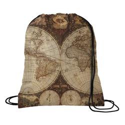 Vintage World Map Drawstring Backpack