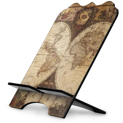 Vintage World Map Stylized Tablet Stand