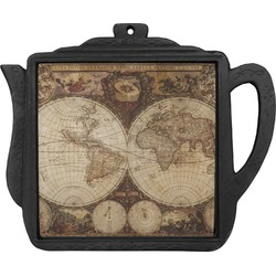 Vintage World Map Teapot Trivet