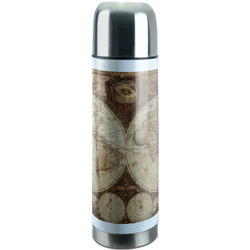 Vintage World Map Stainless Steel Thermos