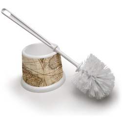 Vintage World Map Toilet Brush