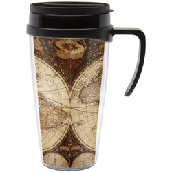 Vintage World Map Travel Mug with Handle