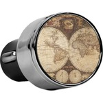 Vintage World Map USB Car Charger