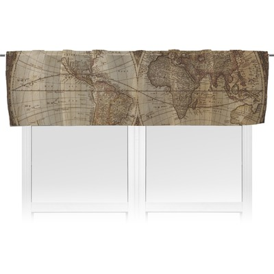 Vintage World Map Valance