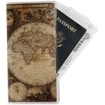 Vintage World Map Travel Document Holder