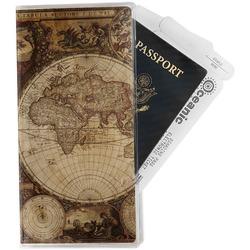 Vintage World Map Travel Document Holder