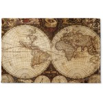 Vintage World Map Woven Mat