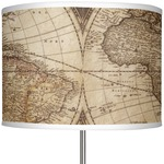 "Vintage World Map 13"" Drum Lamp Shade"