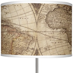 "Vintage World Map 13"" Drum Lamp Shade"