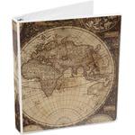 Vintage World Map 3-Ring Binder