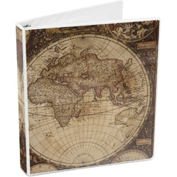 Vintage World Map 3-Ring Binder