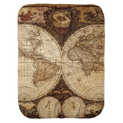 Vintage World Map Baby Swaddling Blanket