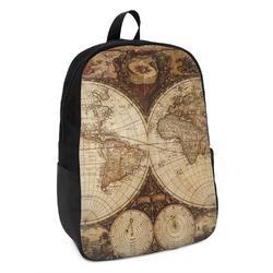 Vintage World Map Kids Backpack