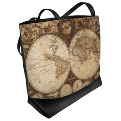 Vintage World Map Beach Tote Bag