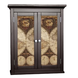 Vintage World Map Cabinet Decal - Small