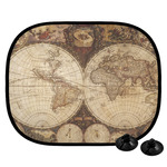 Vintage World Map Car Side Window Sun Shade