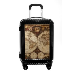 Vintage World Map Carry On Hard Shell Suitcase
