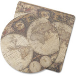 Vintage World Map Rubber Backed Coaster