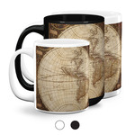 Vintage World Map Coffee Mugs