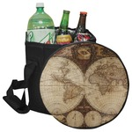Vintage World Map Collapsible Cooler & Seat