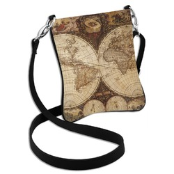 Vintage World Map Cross Body Bag - 2 Sizes