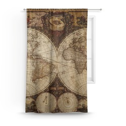 Vintage World Map Curtain