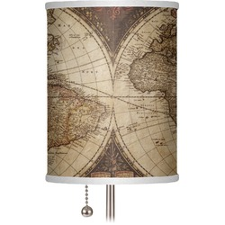 "Vintage World Map 7"" Drum Lamp Shade"